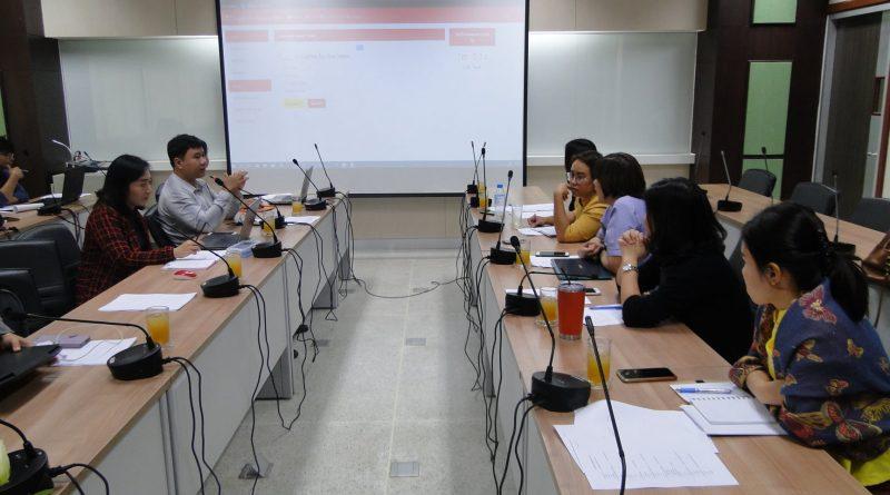 การประชุมเรื่อง การคัดเลือกข้อสอบและติดตามความก้าวหน้าของโปรแกรม Responsive web