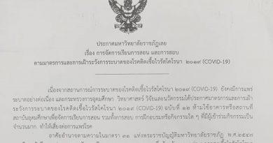 แจ้งประกาศมหาวิทยาลัยราชภัฏเลย เรื่องการจัดการเรียนการสอนฯ ลงวันที่ 9 มิถุนายน 2564